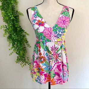 Lilly Pulitzer Nosey Posey Floral Print Tank Top